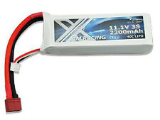 Lipo batería 11,1 voltios 3s de 2200 mAh de 40c Dean enchufe NUEVO