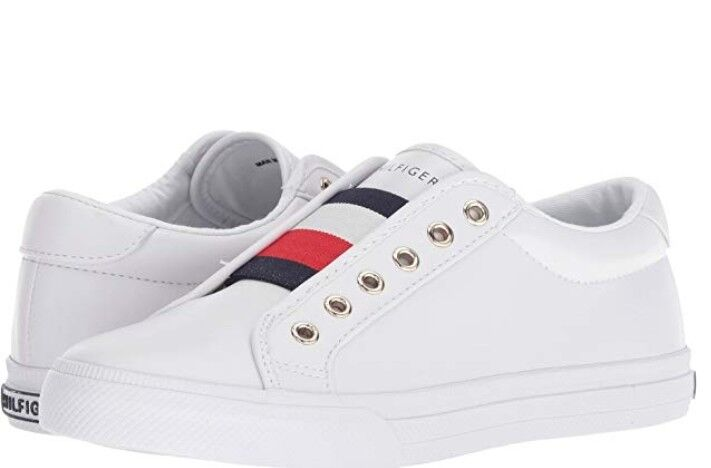 Tommy Hilfiger Hilfiger Tommy Womens Sneaker Slip-on Cushioned footbed Leather White Platform c14b54