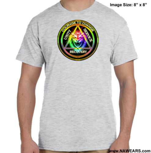 S-4X Courage To Change AA T-shirt- Select Your Color Alcoholics Anonymous