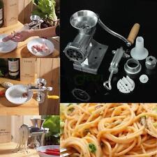 Table Hand Crank Manual Meat Grinder Mincer Stuffer Sausage Filler Maker Machine
