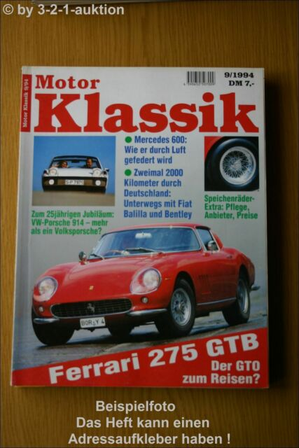 Motor Klassik 9 94 Vw Porsche 914 Ferrari Db 600 Ebay