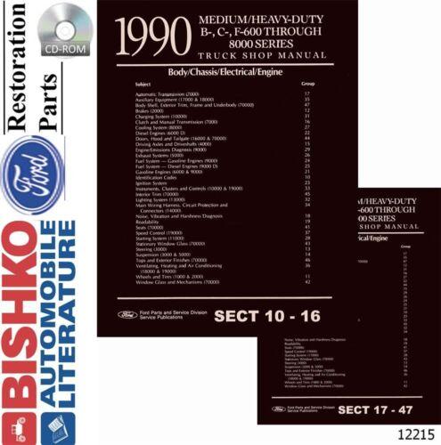 1990 Ford Medium Heavy Duty Shop Service Repair Manual CD