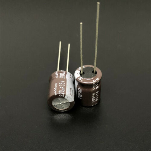 200pcs 220uF 35V 10x12.5mm Nichicon PW Low Impedance Long Life Capacitor