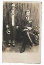 BM961 Carte Photo vintage card RPPC Couple Mode fashion Botte Jozef Rokita