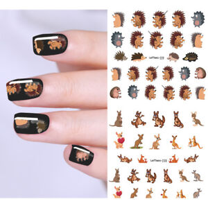 LEMOOC-Nail-Water-Decals-Single-Animal-Nail-Transfer-Sticker-DIY-Design