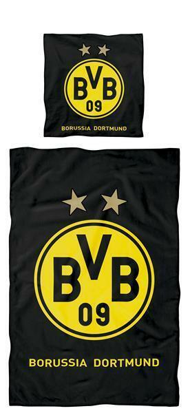 Bvb Borussia Dortmund Bettwäsche Logo 135x200 Cm 100 Baumwolle