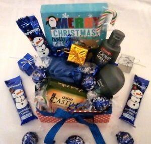Men Boyfriend Hamper Dove Spa Bath Body Lindt Chocolates Christmas Gift Basket