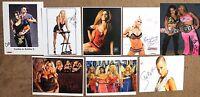 8 Lot Diva Jillian Angelina Sunny Maria Auto 8x10 Autograph Signed WWF WWE TNA