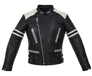 Retro-Moto-Giacca di pelle - 80 - 's Uomo Oldschool Giacca ROCKER CHOPPER leatherjac  </span>