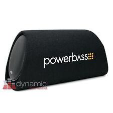 "PowerBass BTA-8 Car Audio 8"" Loaded Power Subwoofer Tube Enclosure + Amp 300W"