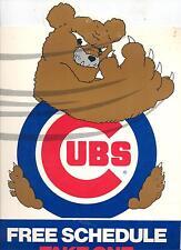 "Vintage 1983 Chicago Cubs Standee Pocket Schedule Holder 9"" x 12 1/2"" UNIQUE"