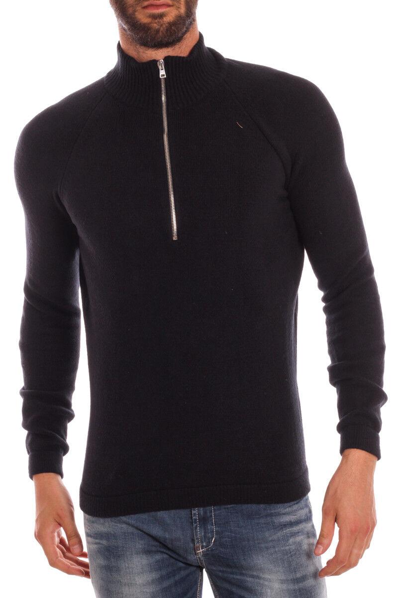 Maglia Daniele Alessandrini Sweater MADE IN ITALY  Herren Nero FM81982S3506 1