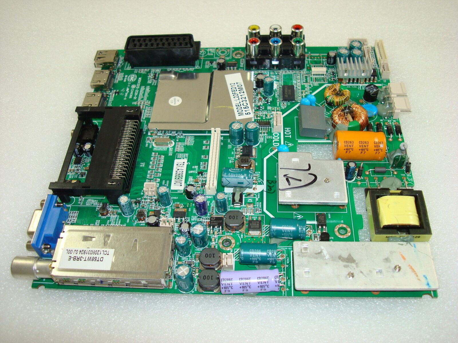 Logik L22fed12 Power Supply Main Av Pcb Msdv3212 Zc01 01 As Well Samsung Tv Circuit Board Schematic Also Philips 515c3212m07 Ebay