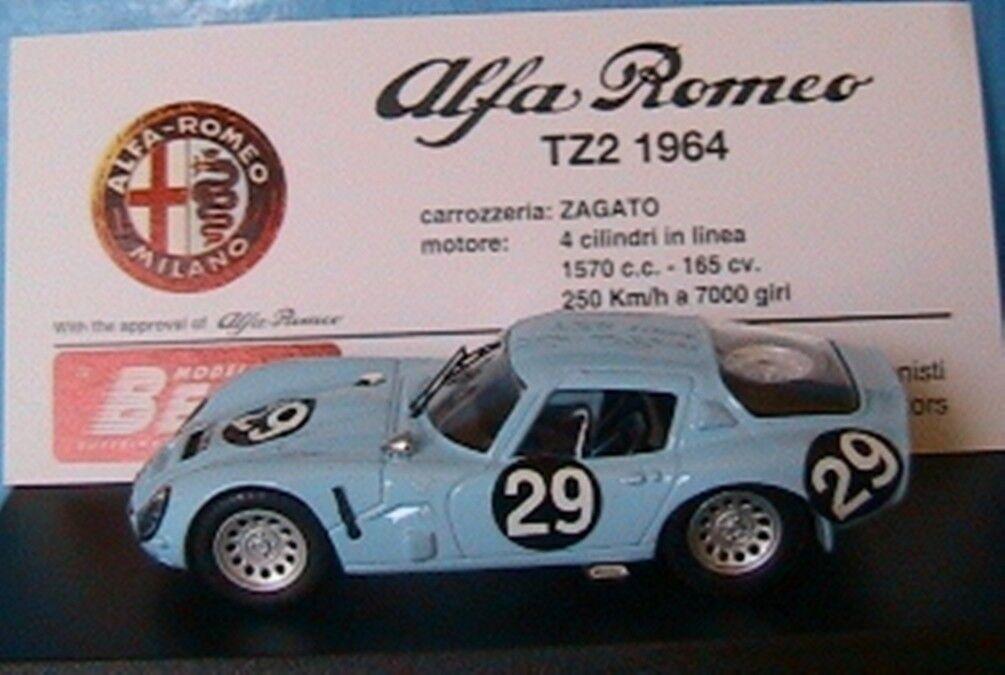 ALFA ROMEO TZ2 ZAGATO  29 MONZA 1967 VOLONTERO SANGRI BEST 9141 1 43