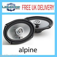 """ALPINE SXE 6925S 6 x 9"""" 15 x 23CM 2 WAY COAXIAL CAR AUDIO SPEAKERS 280W PEAK"""
