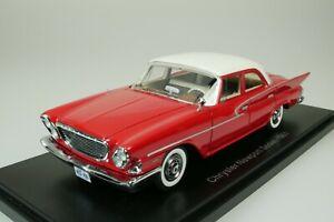 Chrysler-Newport-Sedan-Limousine-1961-Red-White-1-43-Neo-44460-New