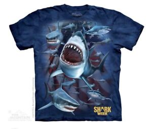 The-Mountain-Men-039-s-Shark-Country-Tee-T-Shirt-S-M-L-3X-4X-Made-in-USA-Shark-Week