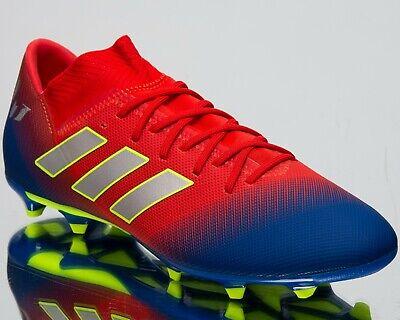 adidas Nemeziz Messi 18.3 FG New Mens Soccer Shoes Active Red Silver Blue BC0316 | eBay