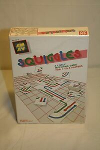 Sealed-Squiggles-A-Lively-Matching-Game-AM-AV-RARE-Vintage-1988-A161