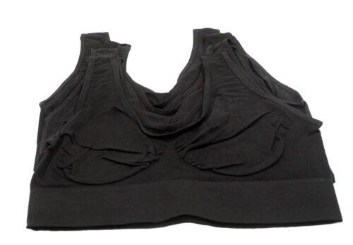 Pack Of 6 Women/'s Sports Bra Racerback Tank Top Slim Vest Sports Bra Style S1719