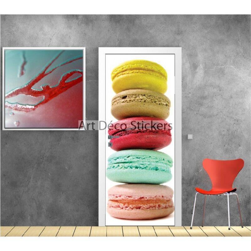 Aufkleber Tür Dekor Küche Macarons Ref 9512 9512