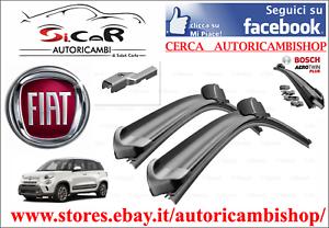 Dettagli Su Coppia Spazzole Tergicristallo Anteriori Bosch Fiat 500l Misure 65cm E 38 Cm