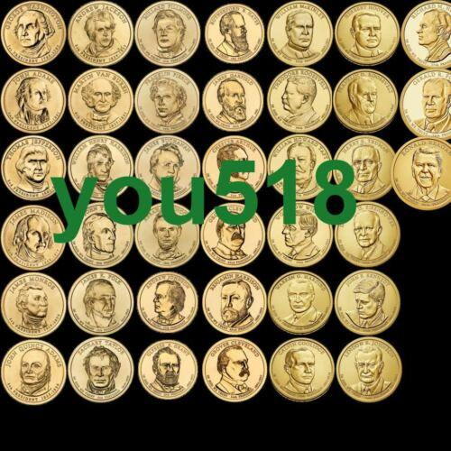 US  Presidential Dollars 2007 to 2016 complete set of  39 coins