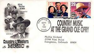 1993-Festschrift-Country-amp-Western-Musik-2-Briefmarken-Stueck-Cachet-Maschine