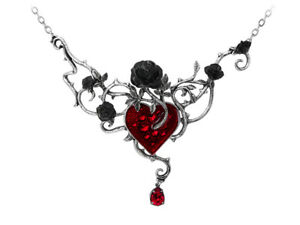 Bed-Of-Blood-Roses-Necklace-Alchemy-Gothic-Heart-Jewellery-P630