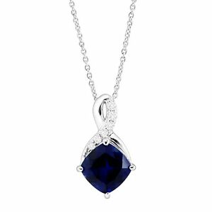 2-5-8-ct-Created-Sapphire-amp-White-Sapphire-Pendant-in-Sterling-Silver