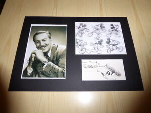 Walt-Disney-amp-Mickey-Mouse-mounted-photographs-amp-preprint-signed-autograph