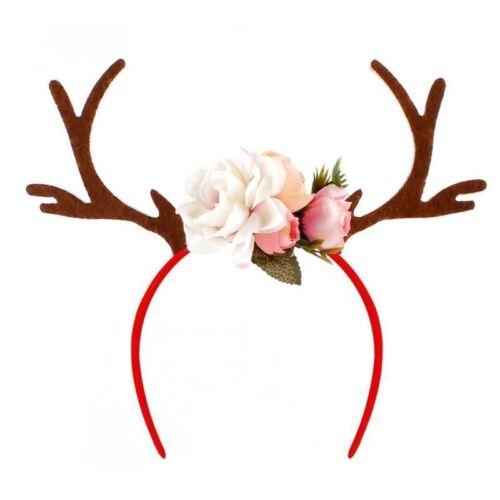 Adult Gold Antler Reindeer Deer Filter Selfie Photo Flower Festival Headband