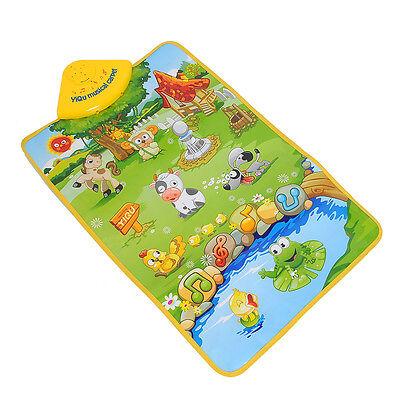 Music Sound Singing Farm Animal Kids Baby Play Playing Mat Carpet Playmat Toy