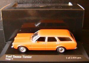 FORD-TAUNUS-TURNIER-1970-ORANGE-71-MINICHAMPS-400081311-1-43-EDITION-LIMITEE