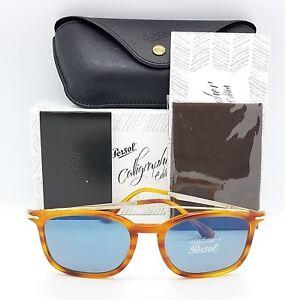 22600b39be74a NEW PERSOL sunglasses PO3173S 960 56 54 Striped Brown Blue Grey ...