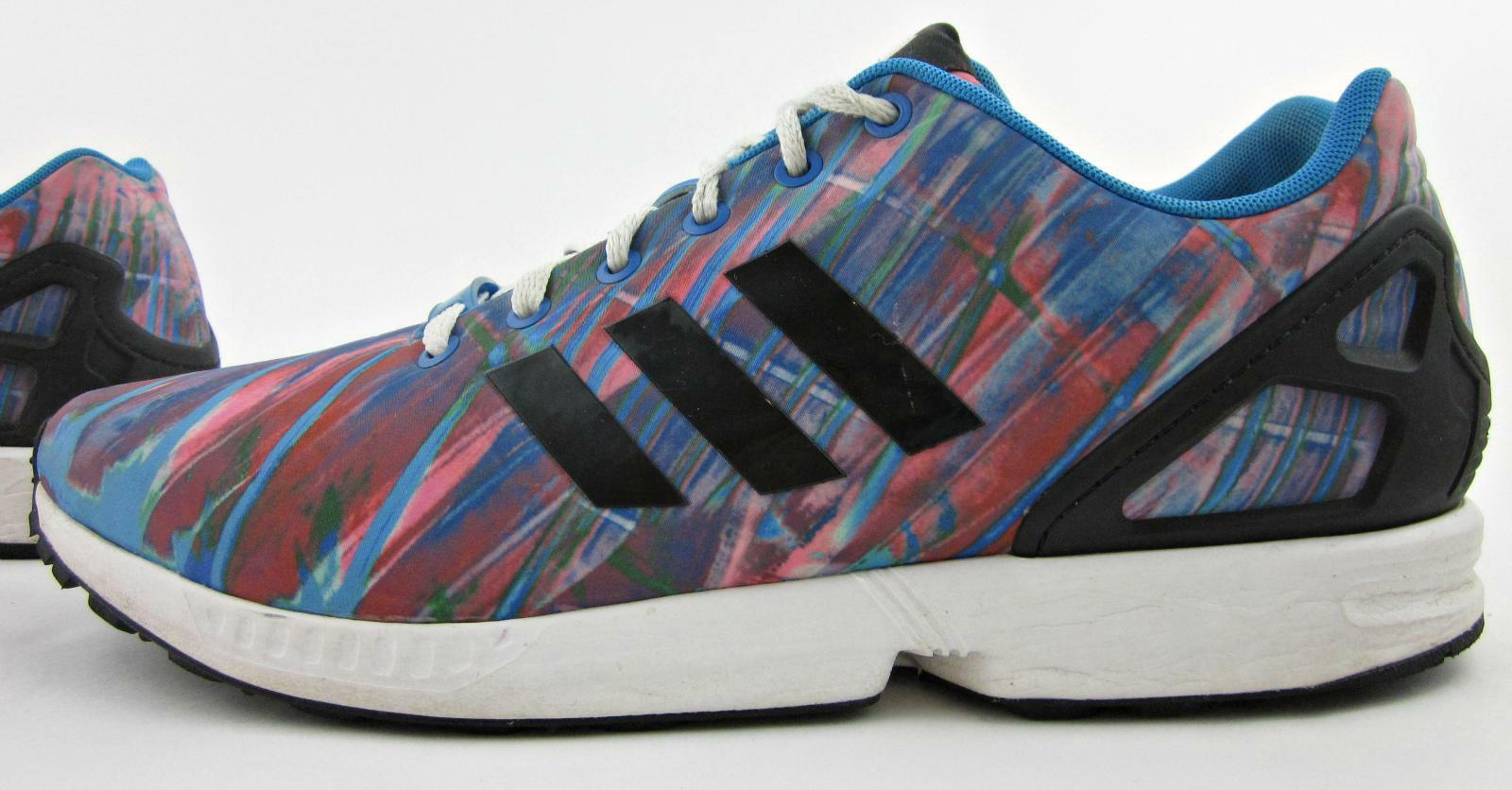 Adidas ZX Flux Mens Mens Mens Fitness Running shoes Multi  Paint  Print US 12.5 40a816