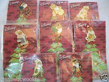 Disney Store set of 8 Santa Pooh pins Russia Austria Greece Poland Finland USA
