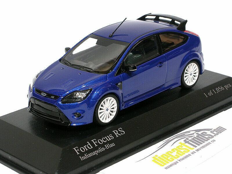 Ford Focus RS 2009 Indianapolis Blau 1 43 Minichamps