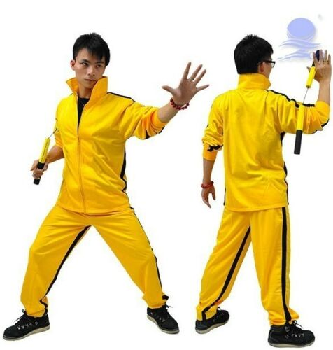 Kung-Fu Vintage Bruce Lee Classic Yellow Game of Death Kill Bill Tracksuit Ninja Uniform