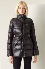 NWOT Burberry Brit Lightweight Glazed Nylon Puffer Coat Jacket Women's BLACK XS