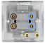 BG Nexus en acier brossé Commutateurs et douilles gamme complète chrome satiné gris inserts