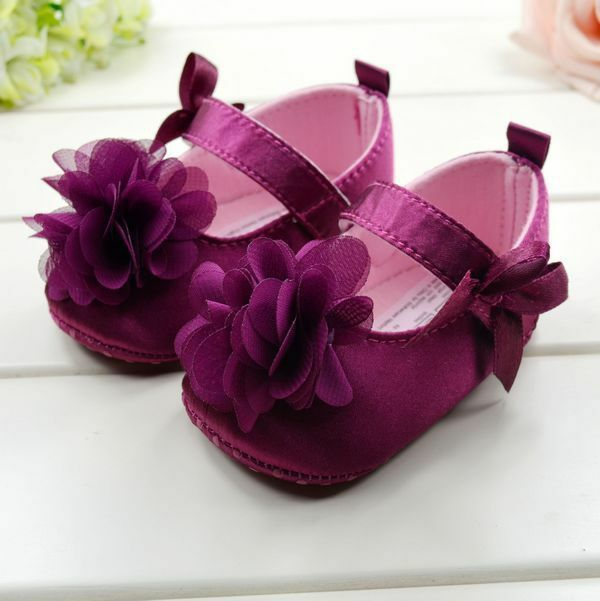 Toddler Kids Baby Girls Bowknot Flower Soft Bottom Shoes Baby Shoes 3 size