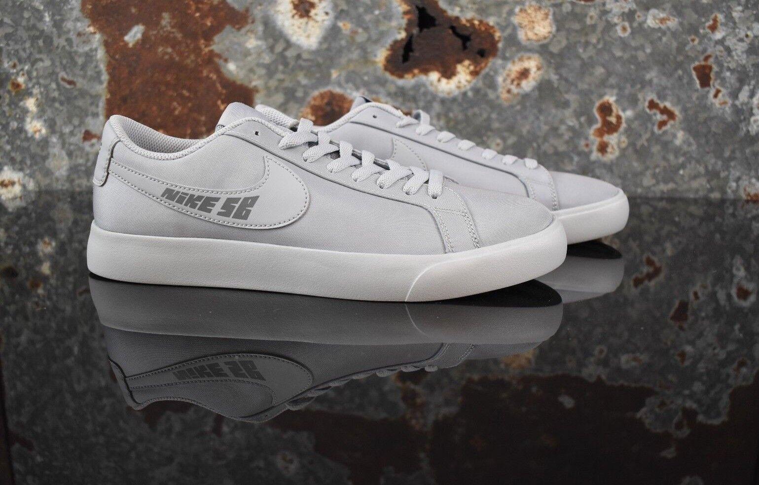 New Men's Nike SB Blazer Vapor TXT Size 8.5 Wolf Grey Skateboarding Shoes