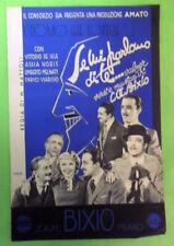 SPARTITO MANDOLINO SE MI PARLANO DI TE.VERSI E MUSICA DI BIXIO 1937.FILM DE SICA