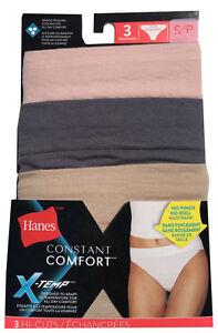 5fe3fdeb8062 Hanes Women's Constant Comfort X-Temp HI-CUTS 3-Pack Women's ...