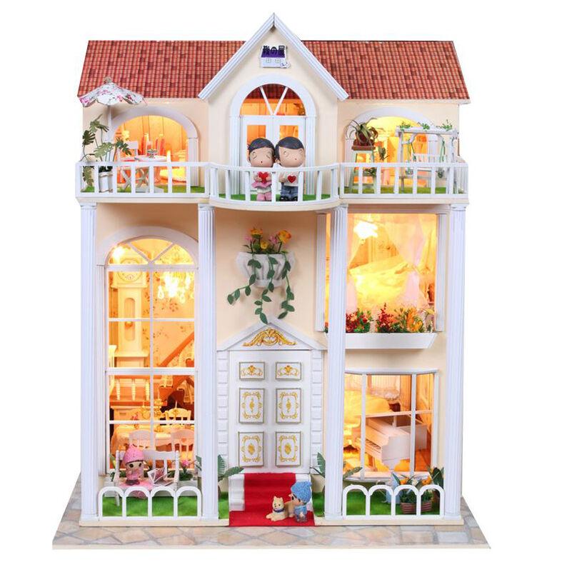 Fai da Te Te Te Artigianato Miniatura Progetto Legno Casa Delle Bambole My Little f19736