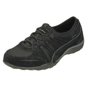 Women's Shoes Skechers Ladies Breathe-easy Trainers Moneybags