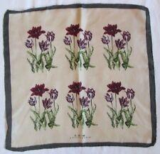 Foulard S. OLIVIER  tour de cou 100% soie  TBEG  vintage scarf  48 x 49 cm
