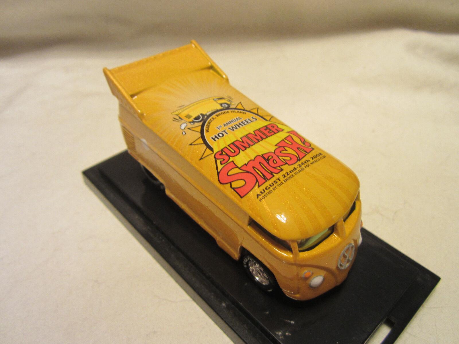 Hot Wheels Libertà Promozioni Promozioni Promozioni 2008 Estate Smash VW Trascinare Bus  226/1300 f9177b