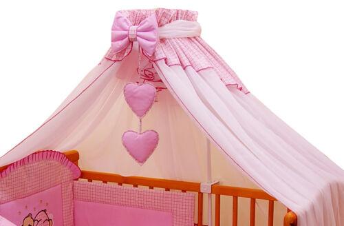 Betthimmel Breite 300cm Stellage Babyzimmer Bettausstattung Bettset 3 Farben
